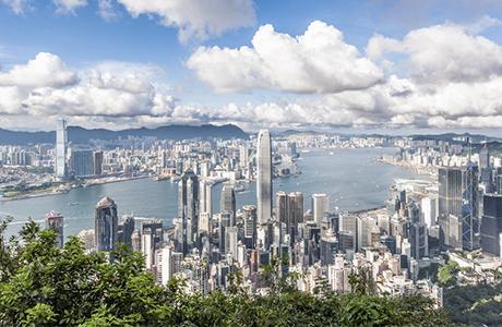 Vue sur Hong-kong