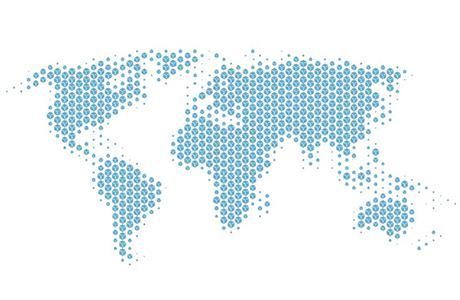Carte du monde avec logo chronopost